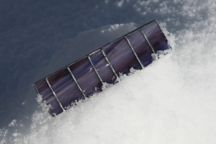 Spona fialová - Tiffany šperky