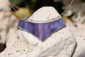 Náhrdelník velký fialový - Tiffany šperky