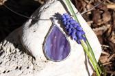 Šperk - kapka fialová - Tiffany šperky