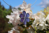Kytička fialová - Tiffany šperky