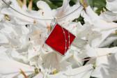 Šperk červený zdobený - Tiffany šperky