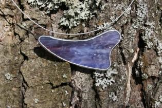 Náhrdelník fialový - Tiffany šperky