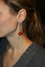 Náušnice pro dobrou náladu červenooranžové - Tiffany šperky