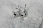 Náušnice paní Zimy s korálky - Tiffany šperky