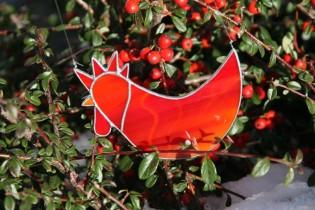 Červený kohout - Tiffany šperky