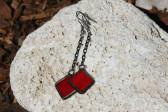 Náušnice pro dobrou náladu červené - Tiffany šperky
