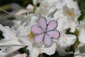 Kytička růžová - Tiffany šperky