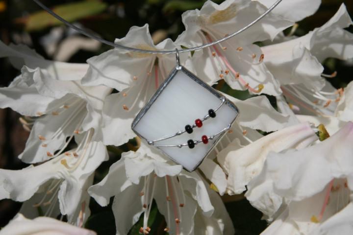 Šperk paní Zimy s korálky - Tiffany šperky