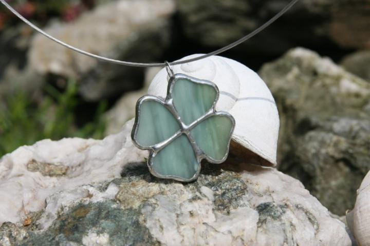 Čtyřlístek pro vodníka - Tiffany šperky