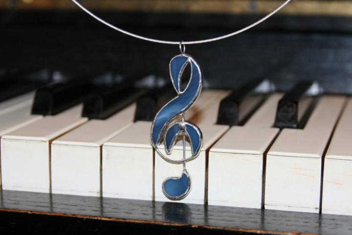 Houslový klíč - Tiffany šperky