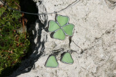 Čtyřlístek zelený - Tiffany šperky