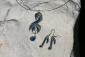 Náušnice notičky modré - Tiffany šperky