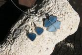 Náušnice srdíčka z moře - Tiffany šperky