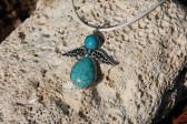 Andílek tyrkysový - Tiffany šperky