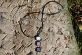 Trojbarevný šperk na šňůrce - Tiffany šperky