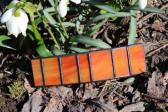 Spona oranžová s patinou - Tiffany šperky