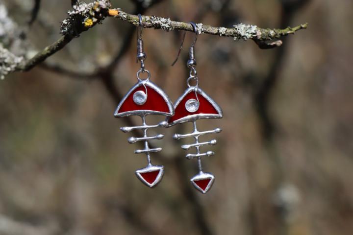 Červená rybička - Tiffany šperky