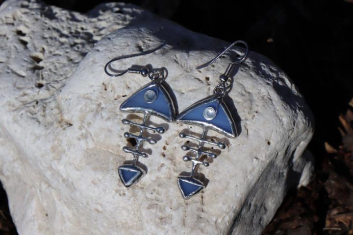 Modrá rybička - Tiffany šperky
