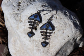 Modrá rybička s patinou - Tiffany šperky