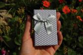 Kočka růžová v dárkové krabičce - Tiffany šperky