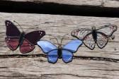 Fialový motýlek na zavěšení - Tiffany šperky