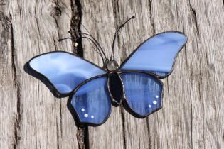 Modrásek na zavěšení - Tiffany šperky