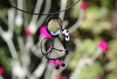Andílek s růžovou kytičkou - Tiffany šperky