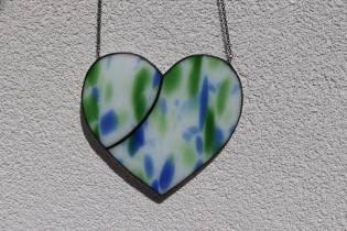 Srdce modrozelené s patinou - Tiffany šperky