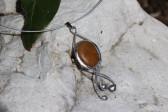 Šperk s béžovým kamínkem - Tiffany šperky