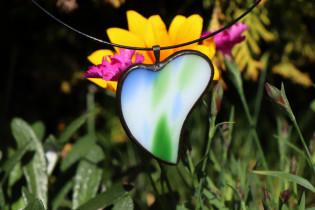 Srdíčko barevné - Tiffany šperky