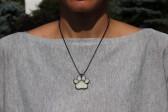 Tlapka béžová s patinou - Tiffany šperky