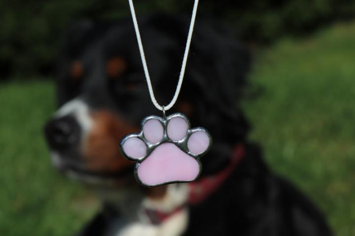 Tlapka růžová - Tiffany šperky