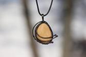 Šperk v patině s kamínkem - Tiffany šperky