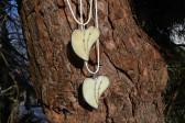 Srdíčko béžové zdobené - Tiffany šperky
