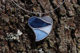 Srdce ze zimních barev - Tiffany šperky