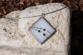 Modrobílý šperk paní Zimy - Tiffany šperky