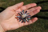 Cínované sluníčko - Tiffany šperky