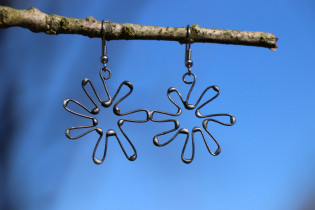 Náušnice kytička - Tiffany šperky