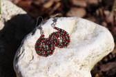 Červené náušnice - spirálka - Tiffany šperky
