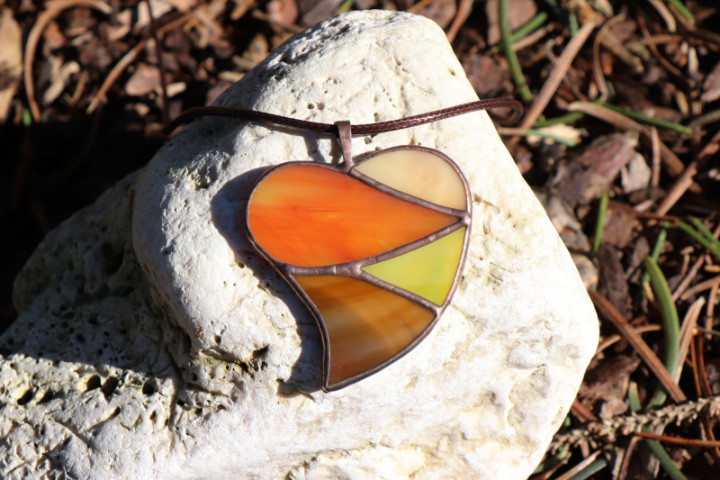 Srdce podzimních barev - Tiffany šperky
