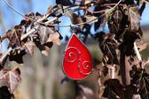 Šperk - kapka červená zdobená - Tiffany šperky