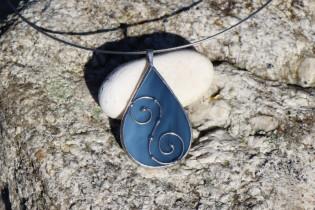 Šperk - kapka z moře zdobená - Tiffany šperky