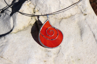 Šperk - kapka z ohně zdobená - Tiffany šperky