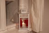 Lucerna červeno-bílá - Tiffany šperky