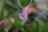Srdíčko malé růžové - Tiffany šperky