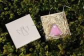 Andílek se srdíčkem růžový - Tiffany šperky