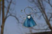 Andílek se srdíčkem modrý - Tiffany šperky