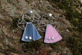 Andílek s kytičkami tmavě modrý - Tiffany šperky