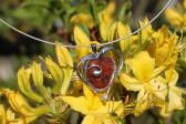 Srdíčko z kamínku a cínu - Tiffany šperky